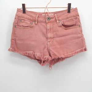 Bullhead Denim High Rise Dusty Rose Shorts